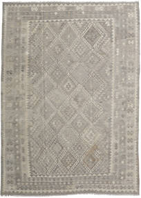 Kilim Afghan Old Style Rug 212X296 Authentic  Oriental Handwoven Light Grey/Light Brown (Wool, Afghanistan)