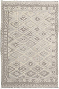 Kilim Afghan Old Style Rug 208X306 Authentic  Oriental Handwoven Light Grey/Light Brown (Wool, Afghanistan)