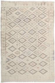 Kelim Afghan Old Style Tæppe 197X290 Ægte Orientalsk Håndvævet Lysebrun/Lysegrå (Uld, Afghanistan)