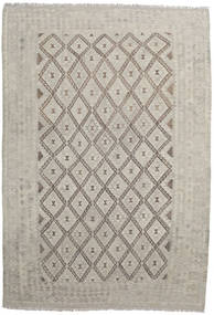 Kilim Afghan Old Style Rug 203X296 Authentic  Oriental Handwoven Light Grey (Wool, Afghanistan)