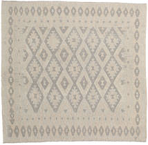 Kilim Afghan Old Style Rug 200X208 Authentic  Oriental Handwoven Square Light Grey (Wool, Afghanistan)