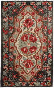 Rose Kelim Moldavia Rug 191X317 Authentic  Oriental Handwoven Dark Red/Black (Wool, Moldova)