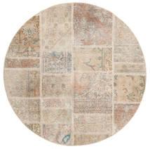 パッチワーク 絨毯 Ø 150 モダン 手織り ラウンド 薄茶色 (ウール, ペルシャ/イラン)