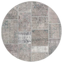 Patchwork Rug Ø 150 Authentic  Modern Handknotted Round Light Grey (Wool, Persia/Iran)