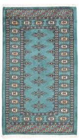 Pakistan Bokhara 2Ply Tæppe 70X119 Ægte Orientalsk Håndknyttet Mørkeblå/Mørke Turkis (Uld, Pakistan)
