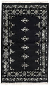 Pakistan Bokhara 2Ply Tæppe 95X159 Ægte Orientalsk Håndknyttet Mørkegrå/Lysegrå (Uld, Pakistan)