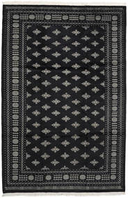 Pakistan Bokhara 2Ply Rug 200X302 Authentic Oriental Handknotted Black/Dark Grey (Wool, Pakistan)