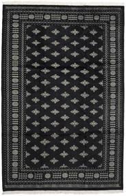 Pakistan Bokhara 2Ply Matto 200X302 Itämainen Käsinsolmittu Musta/Tummanharmaa (Villa, Pakistan)
