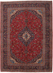 Keshan Rug 301X416 Authentic  Oriental Handknotted Dark Red/Light Purple Large (Wool, Persia/Iran)