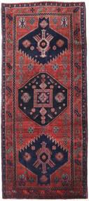 Hamadan Alfombra 128X300 Oriental Hecha A Mano Púrpura Oscuro/Roja (Lana, Persia/Irán)
