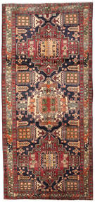 Ardebil Rug 149X319 Authentic  Oriental Handknotted Hallway Runner  Dark Brown/Dark Red/Light Brown (Wool, Persia/Iran)