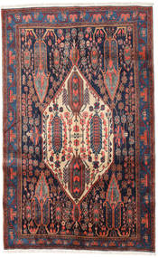 Afshar Rug 156X251 Authentic Oriental Handknotted Black/Purple (Wool, Persia/Iran)