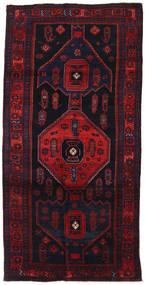 Gholtogh Rug 142X284 Authentic  Oriental Handknotted Hallway Runner  Dark Purple/Dark Red (Wool, Persia/Iran)