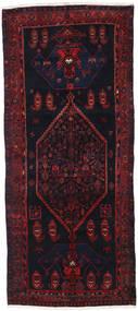 Hamadan Tapis 132X308 D'orient Fait Main Tapis Couloir Vert Foncé/Rouge Foncé (Laine, Perse/Iran)