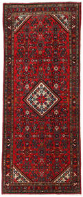 Hosseinabad Rug 127X317 Authentic  Oriental Handknotted Hallway Runner  Dark Red (Wool, Persia/Iran)