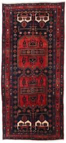 Hamadan Teppe 134X294 Ekte Orientalsk Håndknyttet Teppeløpere Mørk Rød/Svart (Ull, Persia/Iran)
