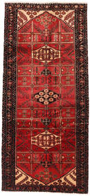 Saveh Rug 132X295 Authentic  Oriental Handknotted Hallway Runner  Dark Red/Dark Brown (Wool, Persia/Iran)