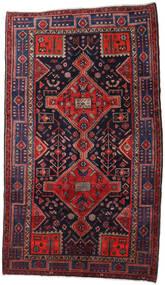 Hamadan Alfombra 158X274 Oriental Hecha A Mano Púrpura Oscuro/Rojo Oscuro (Lana, Persia/Irán)
