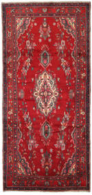 Asadabad Rug 142X306 Authentic Oriental Handknotted Hallway Runner Crimson Red/Brown (Wool, Persia/Iran)