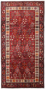 Lori Rug 146X287 Authentic  Oriental Handknotted Hallway Runner  Dark Red/Brown (Wool, Persia/Iran)