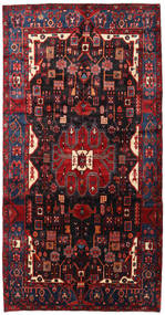 Nahavand Rug 156X304 Authentic  Oriental Handknotted Hallway Runner  Dark Red (Wool, Persia/Iran)