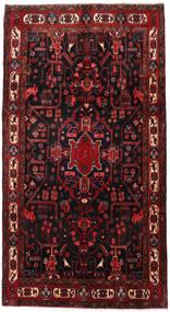 Nahavand Matto 160X298 Itämainen Käsinsolmittu Käytävämatto Tummanpunainen (Villa, Persia/Iran)