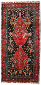 Koliai Rug 142X313 Authentic  Oriental Handknotted Hallway Runner  Black/Brown (Wool, Persia/Iran)