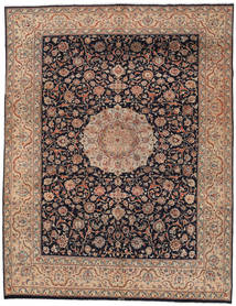 Mashad Rug 285X371 Authentic  Oriental Handknotted Light Brown/Dark Grey Large (Wool, Persia/Iran)