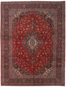 Keshan Rug 300X396 Authentic  Oriental Handknotted Dark Red/Dark Grey Large (Wool, Persia/Iran)
