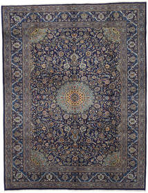 Mashad Rug 298X385 Authentic  Oriental Handknotted Dark Grey/Light Brown Large (Wool, Persia/Iran)