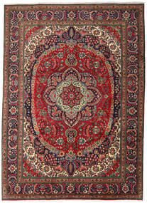 Tabriz Rug 247X344 Authentic  Oriental Handknotted Dark Brown/Dark Red (Wool, Persia/Iran)