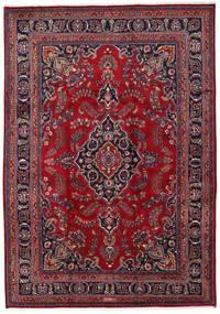 Mashad Matto 243X345 Itämainen Käsinsolmittu Tummanpunainen/Tummanvioletti (Villa, Persia/Iran)