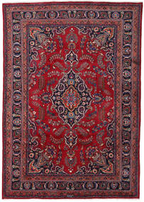 Mashad Rug 240X347 Authentic  Oriental Handknotted Dark Red/Dark Purple (Wool, Persia/Iran)