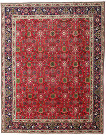 Tabriz Rug 297X382 Authentic  Oriental Handknotted Brown/Crimson Red Large (Wool, Persia/Iran)