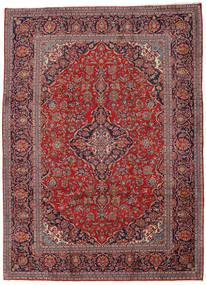 Keszan Dywan 242X334 Orientalny Tkany Ręcznie Ciemnoczerwony/Ciemnobrązowy (Wełna, Persja/Iran)