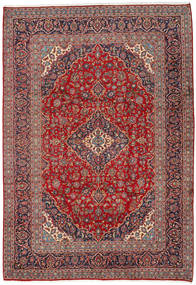 Keshan Rug 242X350 Authentic  Oriental Handknotted Brown/Dark Red (Wool, Persia/Iran)