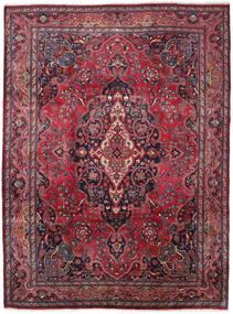 Mashad Vloerkleed 245X330 Echt Oosters Handgeknoopt Donkerpaars/Rood (Wol, Perzië/Iran)