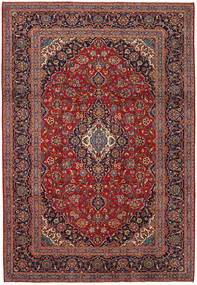 Keshan Rug 241X349 Authentic  Oriental Handknotted Brown/Dark Red (Wool, Persia/Iran)