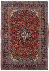 Keshan Rug 244X344 Authentic  Oriental Handknotted Dark Red/Brown (Wool, Persia/Iran)