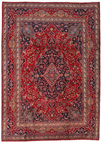 Mashad Rug 243X340 Authentic  Oriental Handknotted Dark Red/Crimson Red (Wool, Persia/Iran)