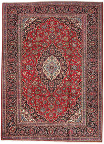 Keshan Rug 249X347 Authentic  Oriental Handknotted Dark Blue/Dark Red (Wool, Persia/Iran)
