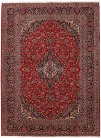 Keshan Matto 298X403 Itämainen Käsinsolmittu Tummanpunainen/Vaaleanruskea Isot (Villa, Persia/Iran)