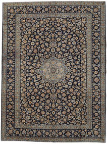 Keshan Matto 300X406 Itämainen Käsinsolmittu Musta/Vaaleanruskea Isot (Villa, Persia/Iran)