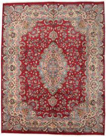 Mashad Matto 294X374 Itämainen Käsinsolmittu Punainen/Vaaleanruskea Isot (Villa, Persia/Iran)