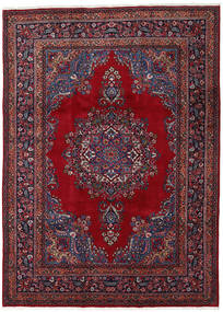 Mashad Rug 243X338 Authentic  Oriental Handknotted Dark Red/Crimson Red (Wool, Persia/Iran)