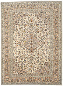 Keshan Rug 241X331 Authentic  Oriental Handknotted Light Brown/Beige (Wool, Persia/Iran)
