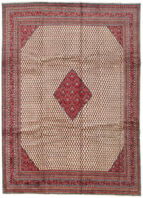 Sarough Mir Matto 265X368 Itämainen Käsinsolmittu Vaaleanruskea/Tummanpunainen Isot (Villa, Persia/Iran)