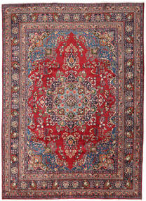 Mashad Rug 248X339 Authentic  Oriental Handknotted Dark Red/Dark Grey (Wool, Persia/Iran)