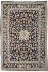 Keshan Teppe 252X374 Ekte Orientalsk Håndknyttet Lys Grå/Mørk Lilla Stort (Ull, Persia/Iran)