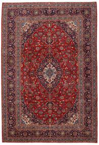 Keshan Tappeto 252X367 Orientale Fatto A Mano Rosso Scuro/Nero Grandi (Lana, Persia/Iran)